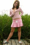 Petite Brunette Candice Spreads To Show Her Sweetness - Picture 13