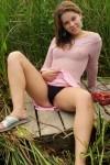 Petite Brunette Candice Spreads To Show Her Sweetness - Picture 5